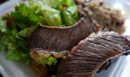 beef ribs at fish shack and grill