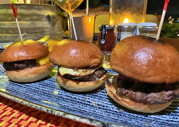 Beef Sliders at Maundays Club at Belmond Cap Juluca