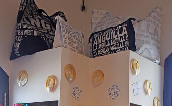 bijoux boutique bags with anguilla prints
