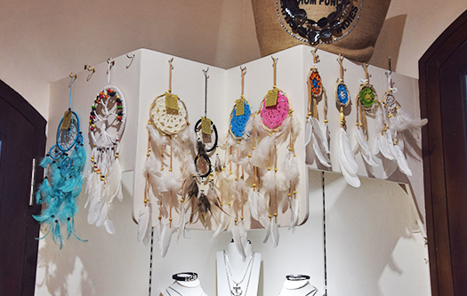 Dream catchers at Bijoux Boutique