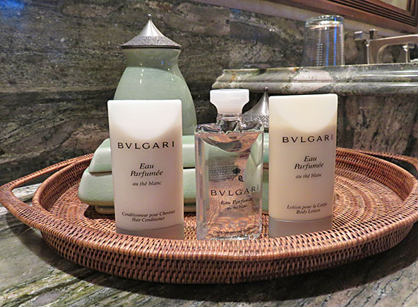 bvlgari amenities at bird of paradise villa