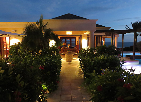 bird of paradise luxury villa by night