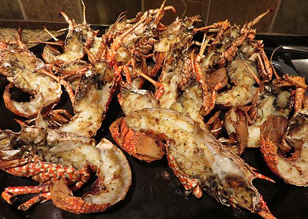 the crayfish plate at bird of paradise villa chef