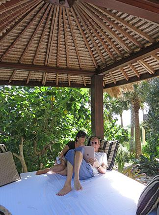 indonesian gazebo at bird of paradise villa