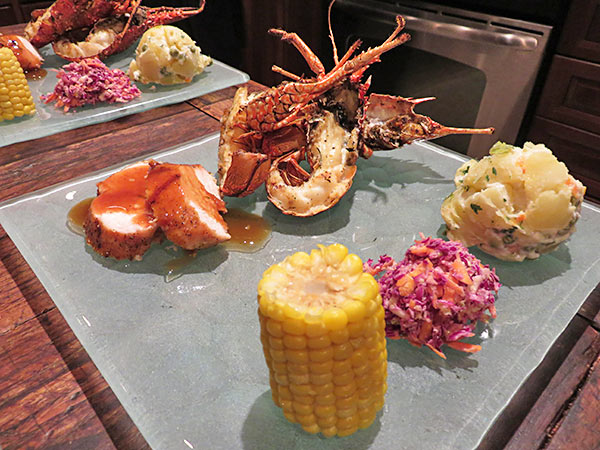 bird of paradise gourmet bbq chef dinner