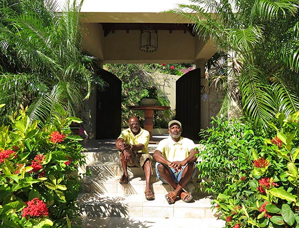landscapers tio and jose at bird of paradise villa
