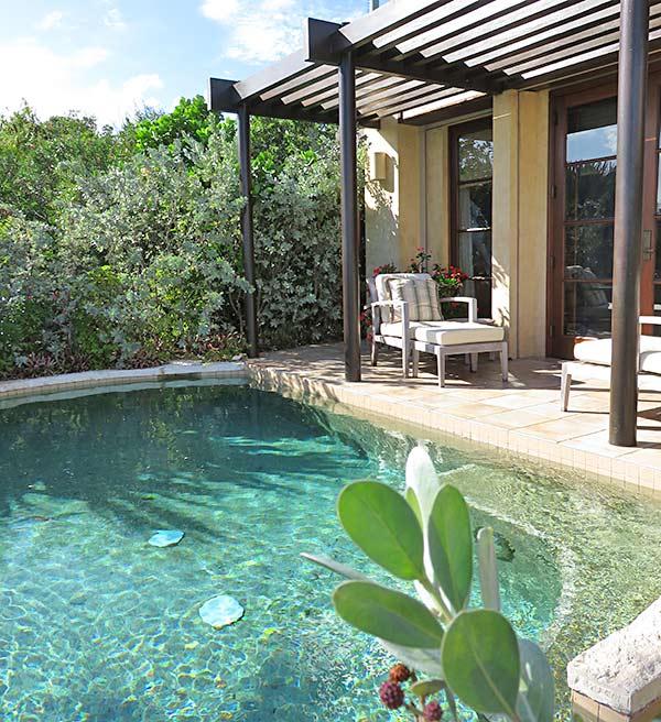 master bedroom terrace at bird of paradise villa