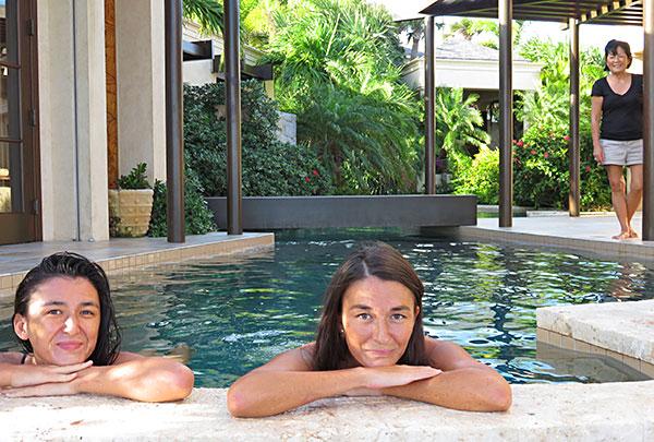 lagoon like pool at bird of paradise villa