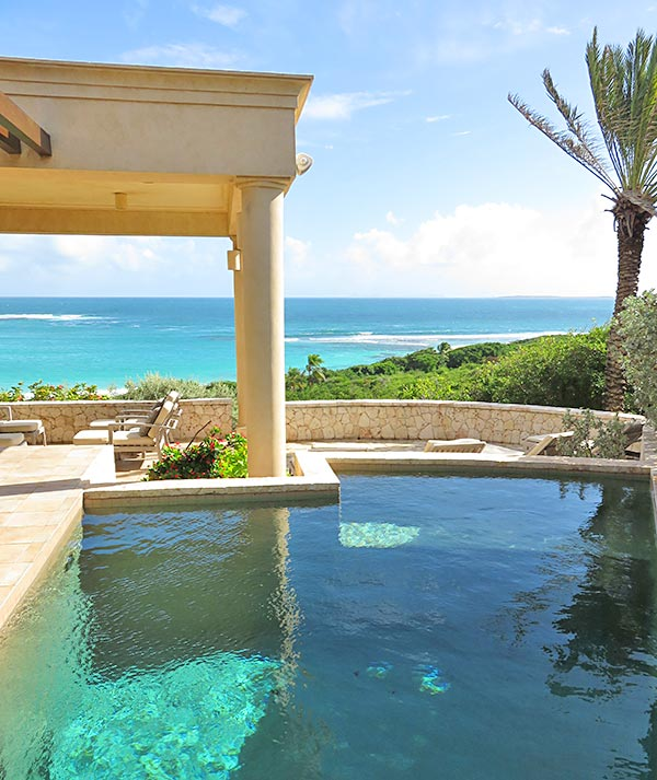 pool view from bird of paradise villa