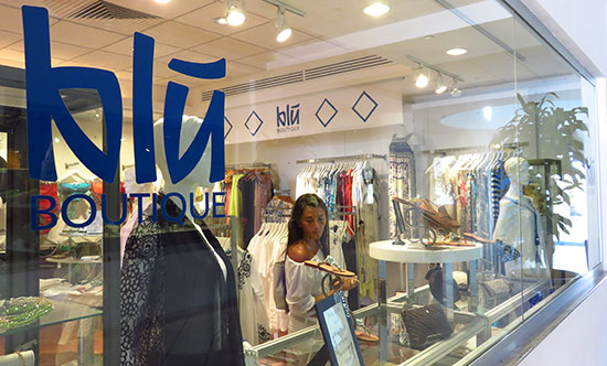 inside blu boutique at cuisinart