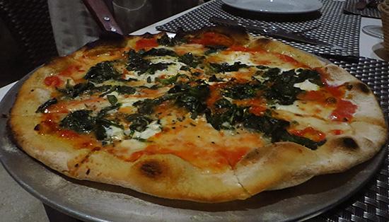 pizza at blue bar