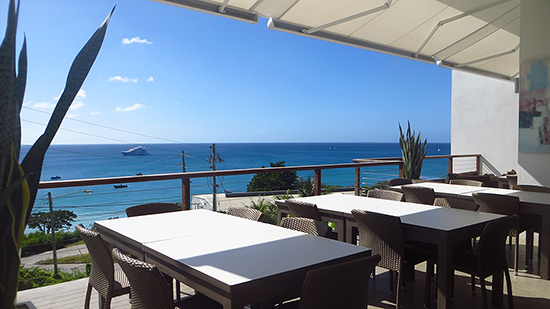 view of crocus bay from bluebar