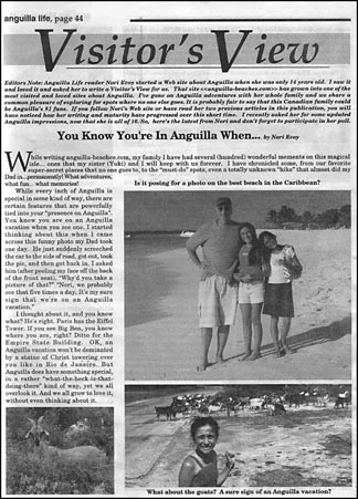 Blue Waters of Anguilla Article