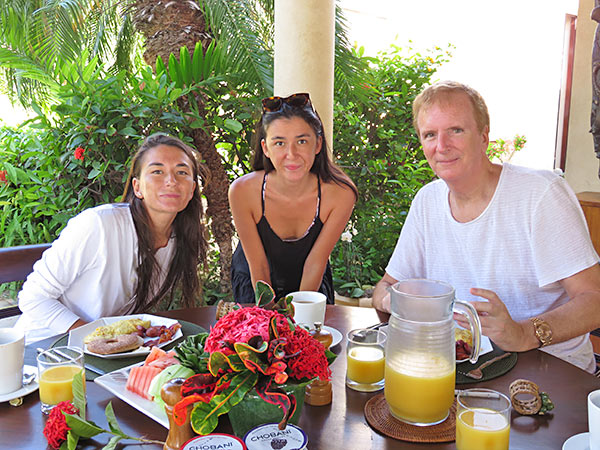 breakfast all together at bird of paradise villa