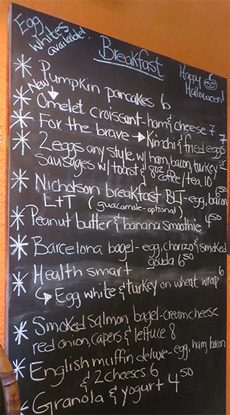 breakfast menu at gerauds