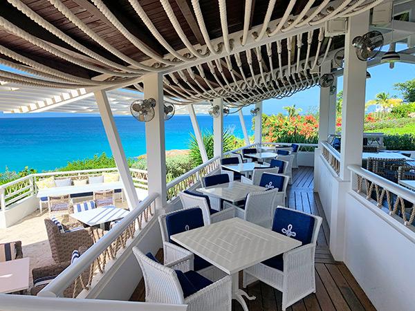 cafe celeste seating area