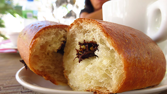 brioche at cafe de paris