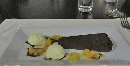 chocolate decadence dessert cake at de cuisine