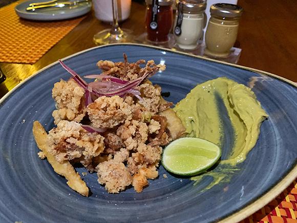 Fried Calamari with Creole Dip at Maundays Club at Belmond Cap Juluca