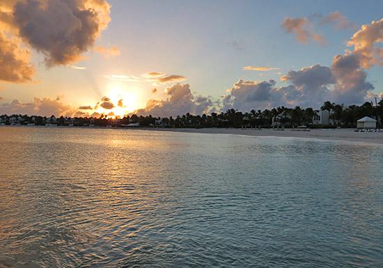 sunset skies over maundays bay cap juluca