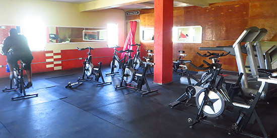 cardio room bikes at dungeon gym