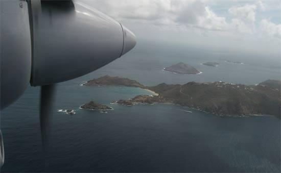 caribbean island st. barts airport