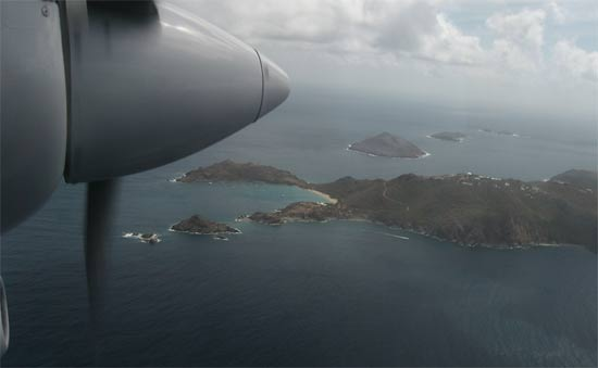caribbean island st. barts airport