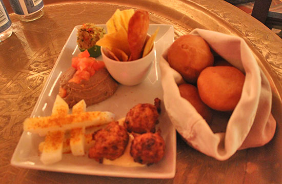 caribbean plate for sharing at meze