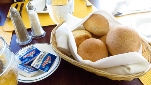 breadrolls from caribbean restaurant