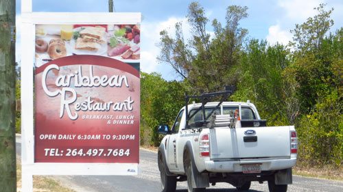 caribbean restaurant's sign