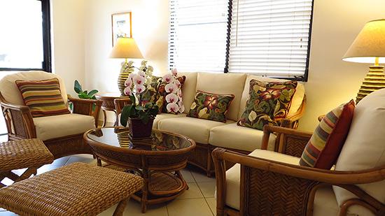 living room inside carimar beach club