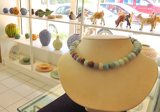 glass bead necklace created by carrolle devonish