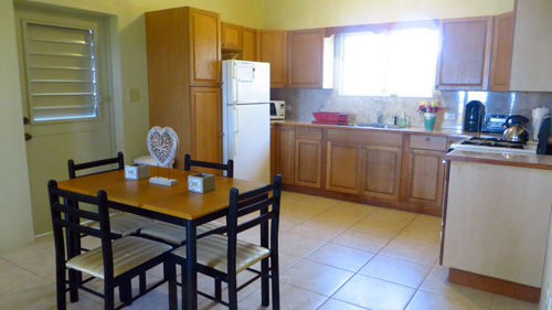 casa hughes kitchen and dining area