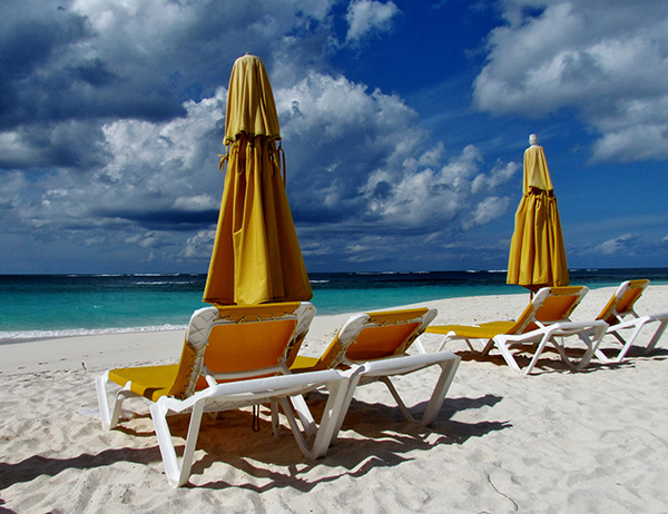 beach chairs at elodias on shoal bay east