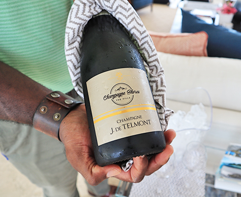 J. de Telmont Champagne at Champagne Shores The Villa