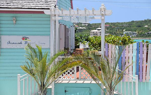 entrance to arawak beach inn