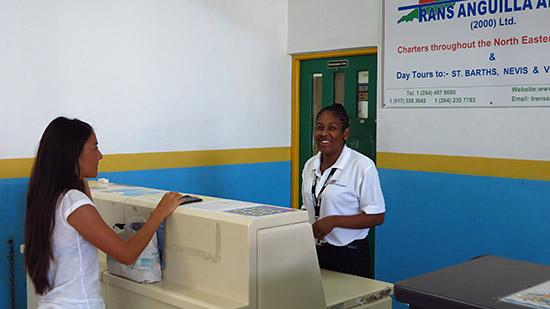 checking in at trans anguilla