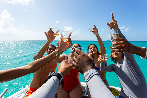 cheers to rum & reel anguilla charters