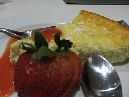 cheesecake at blue bar