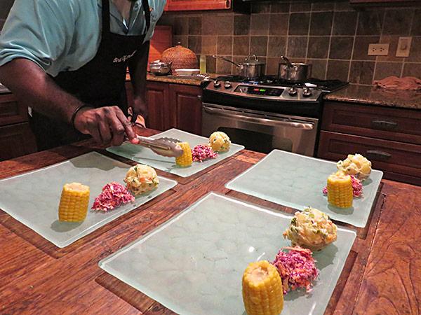 bird of paradise chef kylon plating caribbean bbq