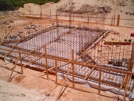 cistern with rebar