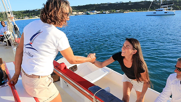 climbing aboard tradition sailing charter