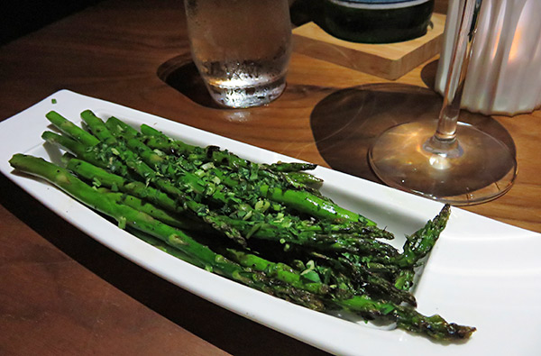 asparagus lemon gremolata at coba four seasons