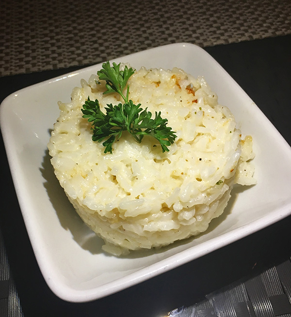 creamy coconut rice from flavors