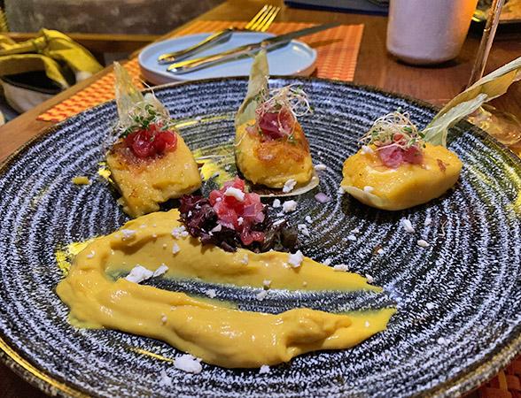 Corn Panquitas at Maundays Club at Belmond Cap Juluca