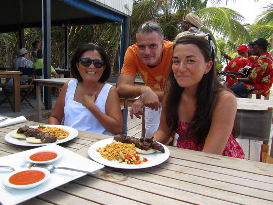 anguilla dining lunch