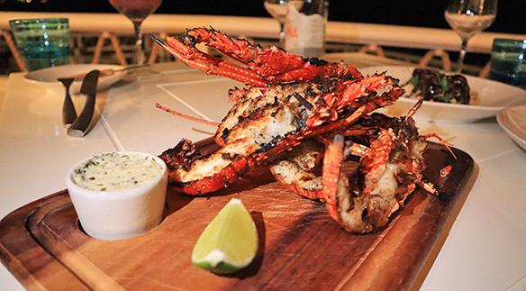 crayfish at cafe celeste malliouhana