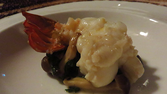 crayfish with porcini mushrooms