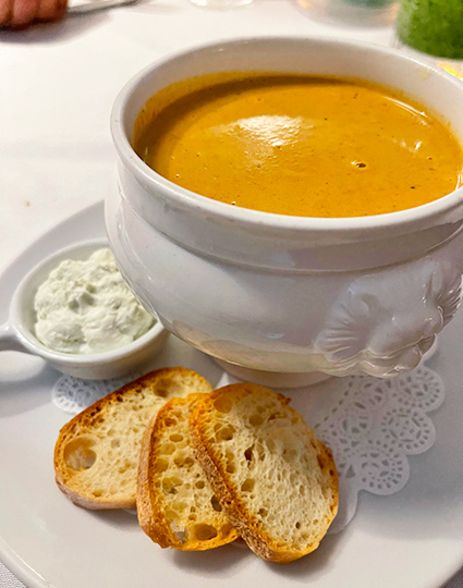 Creamy Lobster Bisque at Ocean 82