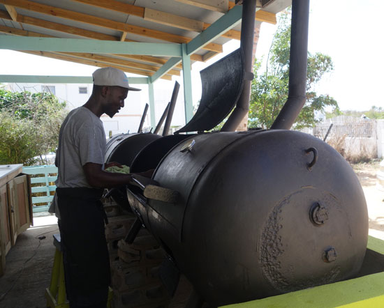 custom grills at fish shack and grill